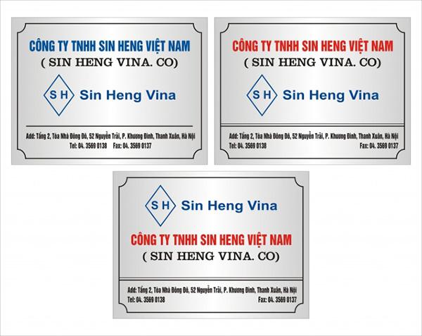 Làm biển công ty đẹp giá rẻ tại Hà Nội